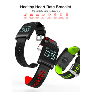 DM68PLUS 0.95 Inch Smart Bracelet Heart Rate Blood Pressure Monitor Sleep Activity Health Tracker (Green)
