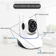 Load image into Gallery viewer, Mobile Phone Remote Wireless Monitor Surveillance Camera Smart Home WIFI Camera EU Plug