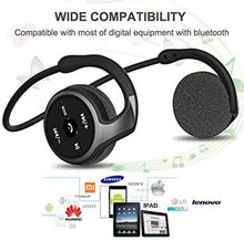 Load image into Gallery viewer, Sports Bluetooth Headphones Suicen AX-698 Support 32G TF Card FM Radio Portable Neckband Wireless Earphones Headset Auriculars black