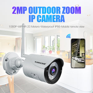 K22 Camera HD 1080P 2MP 4x Zoom Wireless Security Surveillance IP Camera Waterproof Night Vision IR-Cut H.264 Video Night Vision for Home/Office/Road