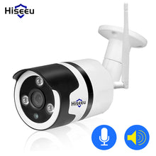 Load image into Gallery viewer, White Hiseeu Wifi Camera Outdoor Bullet HD 720P IP Camera Waterproof Wireless CCTV Video Recorder