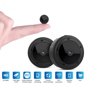 Home Security Mini Camera WiFi 1080P 2-Megapixel HD Lens Wireless Infrared Night Vision Motion Detection  black