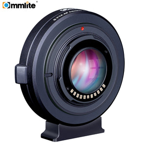 Commlite CM-AEF-MFT Booster 0.71x AF Lens Adapter for Canon EOS EF Lens to M4/3 Camera black