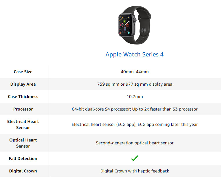 Apple Smart iWatch Series 4 Health Monitoring Lightweight Watch (GPS+Cellular / 44mm / 40mm) pink_GPS 44mm