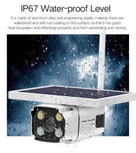 Load image into Gallery viewer, 4G Solar Powered IP Camera with Built-in Battery Wireless Outdoor Security CCTV Camera  4G Version