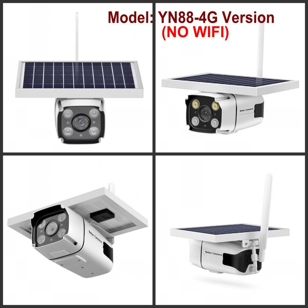 4G Solar Powered IP Camera with Built-in Battery Wireless Outdoor Security CCTV Camera  4G Version