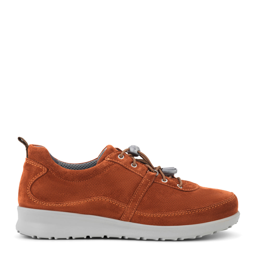Terra Cotta Leather Suede with design structure