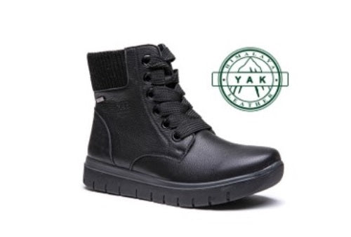 G-Comfort Black boot with lace and lining
