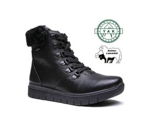 G-Comfort Women's lambskin boots in Black - All Weather