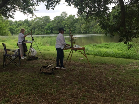 plein air workshop students