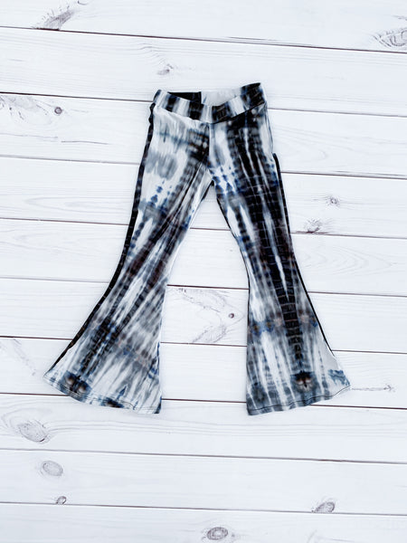 BELL BOTTOMS - BLACK AND WHITE TIE DYE