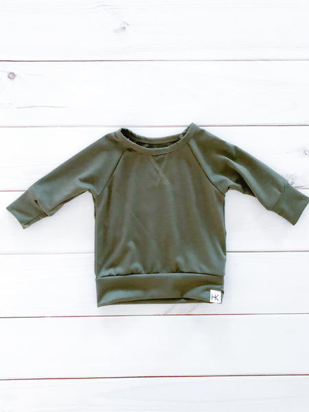 CREW NECK SWEATER - PINE