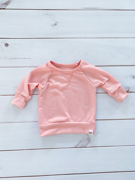 CREW NECK SWEATER - PINK
