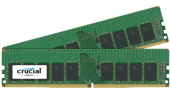 Crucial 32GB (2x 16GB) DDR4-2400 PC4-19200 1.2V DR x8 288-pin UDIMM RAM Kit
