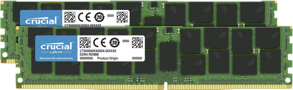 Crucial 32GB (2x 16GB) DDR4-2666 PC4-21300 1.2V DR x8 ECC Registered 288-pin RDIMM RAM Kit