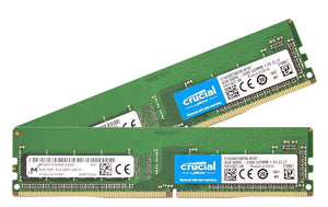 Crucial 8GB (2x 4GB) DDR4-2400 PC4-19200 1.2V SR x8 288-pin UDIMM RAM Kit