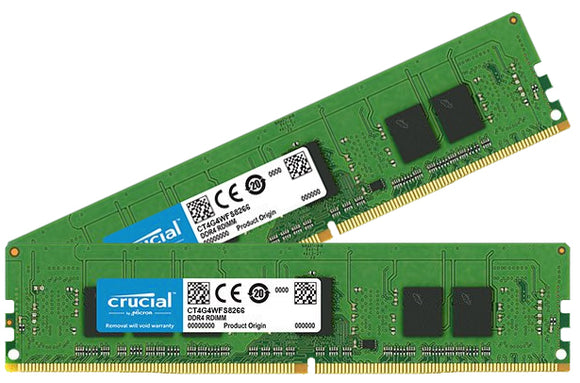 Crucial 8GB (2x 4GB) DDR4-2666 PC4-21300 1.2V SR x8 ECC 288-pin EUDIMM RAM Kit