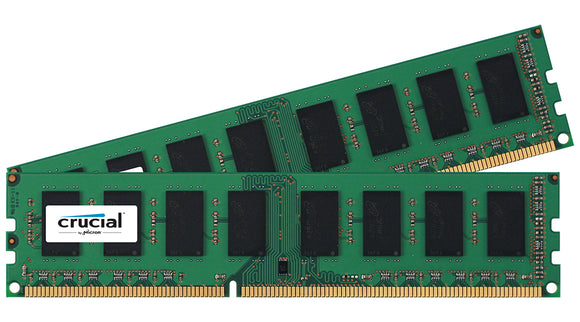 Crucial 8GB (2x 4GB) DDR3L-1600 PC3L-12800 1.35V / 1.5V DR x8 240-pin UDIMM RAM Kit