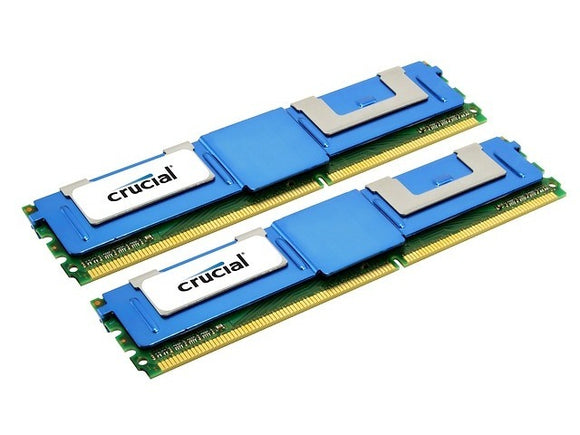 Crucial 8GB (2x 4GB) DDR2-667 PC2-5300 1.8V DR x4 ECC Fully Buffered 240-pin FB-DIMM RAM Kit