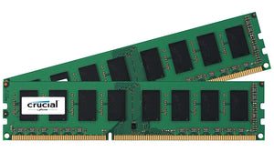 Crucial 8GB (2x 4GB) DDR3L-1866 PC3L-14900 1.35V / 1.5V SR x8 ECC 240-pin EUDIMM RAM Kit