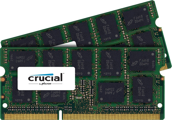 Crucial 8GB (2x 4GB) DDR3L-1600 PC3L-12800 1.35V / 1.5V DR x8 ECC 204-pin SODIMM RAM Kit