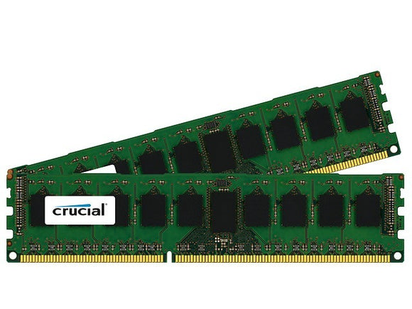 Crucial 16GB (2x 8GB) DDR3L-1600 PC3L-12800 1.35V / 1.5V DR x4 ECC Registered 240-pin RDIMM RAM Kit