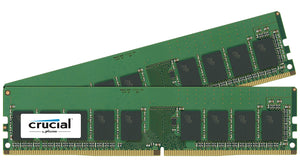 Crucial 16GB (2x 8GB) DDR4-2133 PC4-17000 1.2V SR x8 ECC 288-pin EUDIMM RAM Kit
