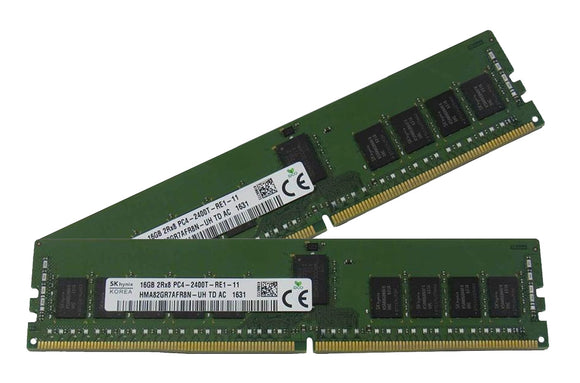 Hynix 32GB (2x 16GB) DDR4-2400 PC4-19200 1.2V DR x8 ECC Registered 288-pin RDIMM RAM Kit