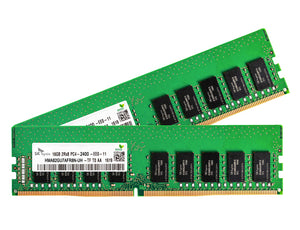Hynix 32GB (2x 16GB) DDR4-2400 PC4-19200 1.2V DR x8 ECC 288-pin EUDIMM RAM Kit