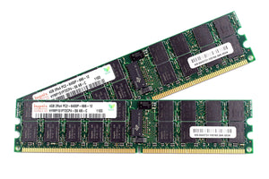 Hynix 8GB (2x 4GB) DDR2-800 PC2-6400 1.8V DR x4 ECC Registered 240-pin RDIMM RAM Kit