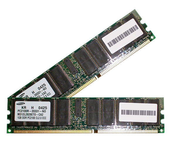 Samsung 2GB (2x 1GB) CL2 DDR-266 PC2100 2.5V DR x4 ECC Registered 184-pin RDIMM RAM Kit