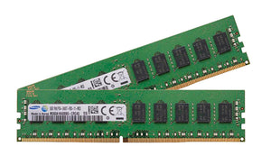 Samsung 16GB (2x 8GB) DDR4-2400 PC4-19200 1.2V SR x8 ECC Registered 288-pin RDIMM RAM Kit