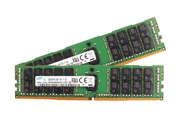 Samsung 64GB (2x 32GB) DDR4-2400 PC4-19200 1.2V DR x4 ECC Registered 288-pin RDIMM RAM Kit