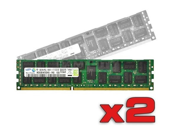 Samsung 16GB (2x 8GB) DDR3L-1600 PC3L-12800 1.35V / 1.5V DR x8 ECC Registered 240-pin RDIMM RAM Kit