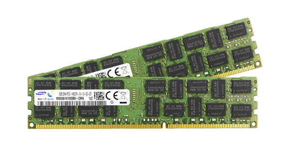Samsung 16GB (2x 8GB) DDR3-1866 PC3-14900 1.5V DR x8 ECC Registered 240-pin RDIMM RAM Kit