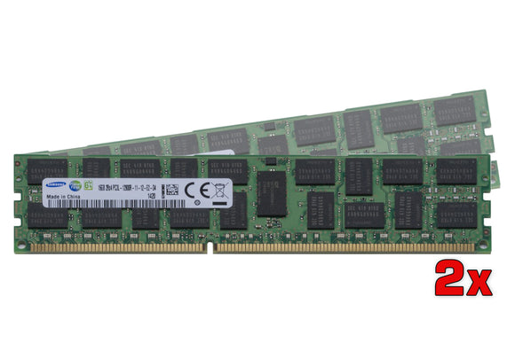 Samsung 32GB (2x 16GB) DDR3L-1600 PC3L-12800 1.35V / 1.5V DR x4 ECC Registered 240-pin RDIMM RAM Kit