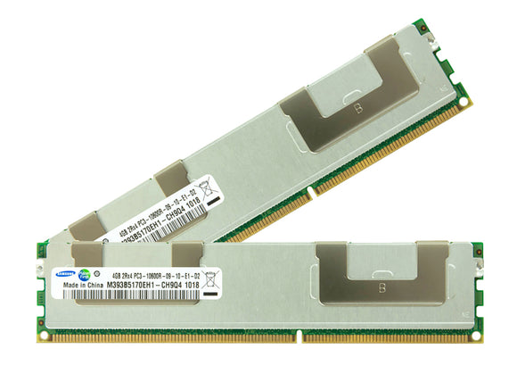 Samsung 8GB (2x 4GB) DDR3-1333 PC3-10600 1.5V DR x4 ECC Registered 240-pin RDIMM RAM Kit