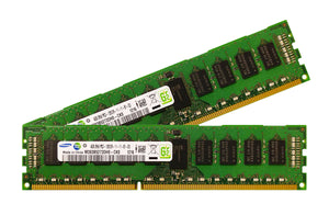 Samsung 8GB (2x 4GB) DDR3-1600 PC3-12800 1.5V DR x8 ECC Registered 240-pin RDIMM RAM Kit