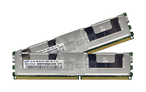 Samsung 8GB (2x 4GB) DDR2-667 PC2-5300 1.8V DR x4 ECC Fully Buffered 240-pin FB-DIMM RAM Kit