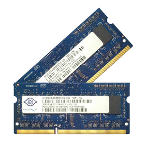 Nanya 4GB (2x 2GB) DDR3-1333 PC3-10600 1.5V SR x8 204-pin SODIMM RAM Kit