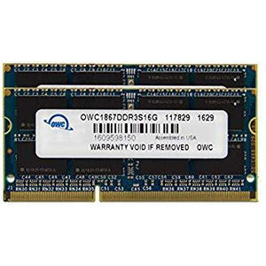 OWC 32GB (2x 16GB) CL11 DDR3L-1866 PC3L-14900 1.35V / 1.5V DR x8 204-pin SODIMM RAM Kit