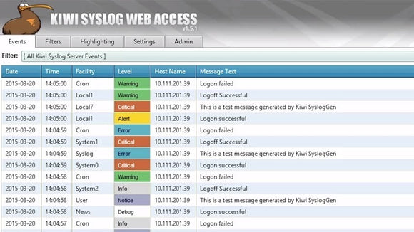 Kiwi Syslog Server - Single Install - License with 12 Months Maintenance