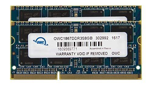 OWC 16GB (2x 8GB) CL11 DDR3L-1866 PC3L-14900 1.35V / 1.5V DR x8 204-pin SODIMM RAM Kit
