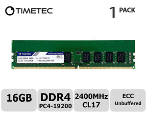 Crucial 16GB (1x 16GB) CL17 DDR4-2400 PC4-19200 1.2V 288-pin UDIMM RAM Module