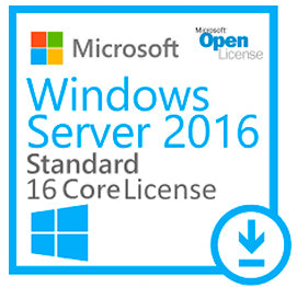 Microsoft Windows Server 2016 Standard Open License - 16 Cores