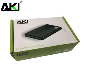 AKY Black USB 3.0 External Drive Case for 2.5 inch SSD or Hard Drive