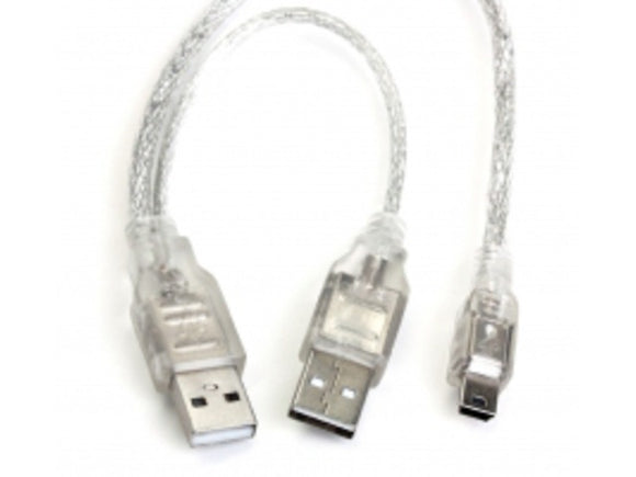 RamCity 62cm USB 2.0 Mini 5 Pin to A Male Power Y-Cable