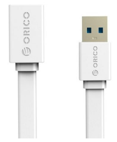 ORICO 1M USB3.0 AM to AF Flat USB Cable - White