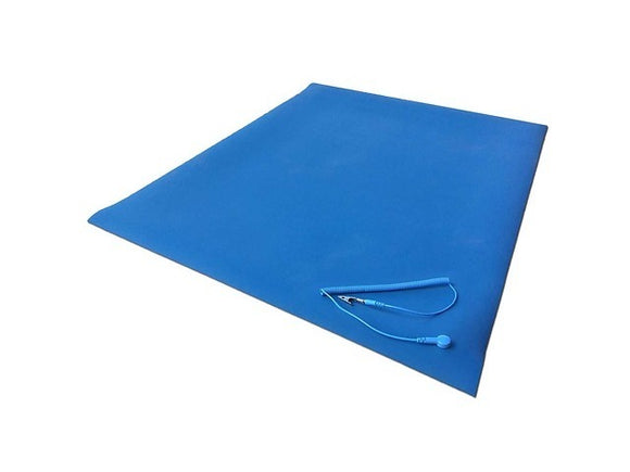 Cleanwirth 60cm x 120cm Pure Natural Rubber Anti-Static (ESD) Mat w/ ground clip
