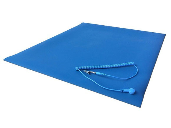 Cleanwirth 50cm x 60cm Pure Natural Rubber Anti-Static (ESD) Mat w/ ground clip